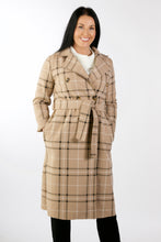 Load image into Gallery viewer, 2402  Double Breasted Check Jacket Beige
