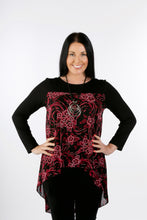 Load image into Gallery viewer, 4105 Layered Tunic Top Wine