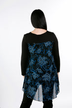Load image into Gallery viewer, 4105  Print Layered Tunic Blue