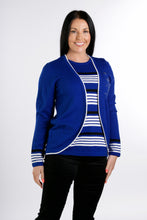 Load image into Gallery viewer, 6317 Stripe inset Jumper Royal
