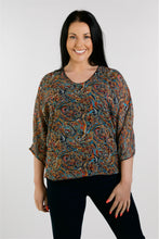 Load image into Gallery viewer, 1152 Print V Neck Top
