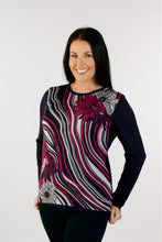 Load image into Gallery viewer, 6318 Print Jumper Cerise Combo