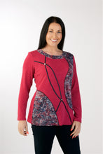 Load image into Gallery viewer, 1163 Print Jumper Cerise