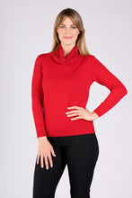 Load image into Gallery viewer, 5301  BEADED POLO JUMPER RED