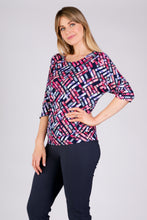 Load image into Gallery viewer, 1121 WAISTBAND PATTERN TOP