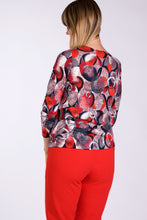 Load image into Gallery viewer, 1125 LONG SLEEVE PRINT  BROOCH TOP