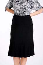 Load image into Gallery viewer, 4501 ELASTIC WAIST LINED SWING PANEL SKIRT Black