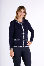 Load image into Gallery viewer, 6316  PEARL BUTTON CARDIGAN NAVY