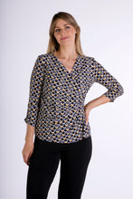 Load image into Gallery viewer, 1103 V NECK PRINT WRAP TOP