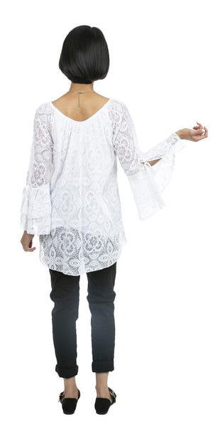Bell Sleeve Lace Top - Italian
