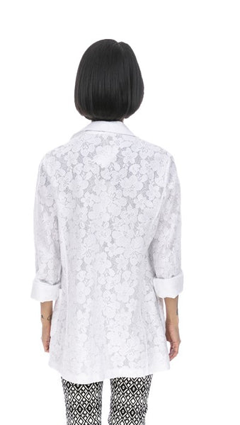 Roll-Up Sleeve Lace Jacket - Italian