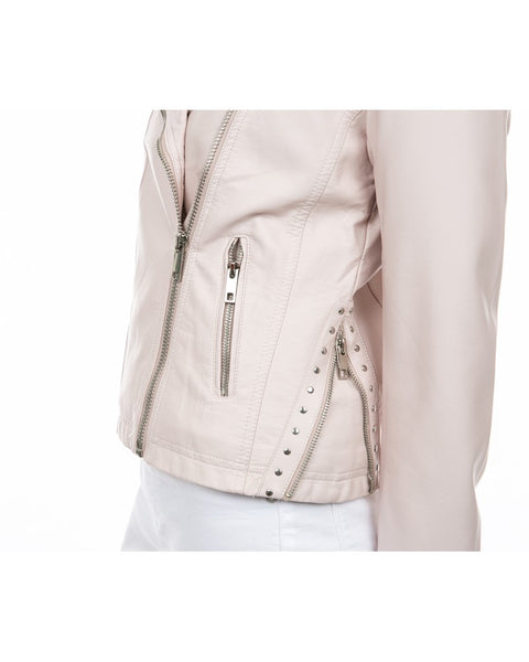Stud Trim Biker Jacket
