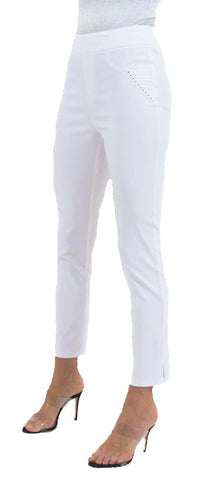 Stud Trim Pocket Ankle Pants