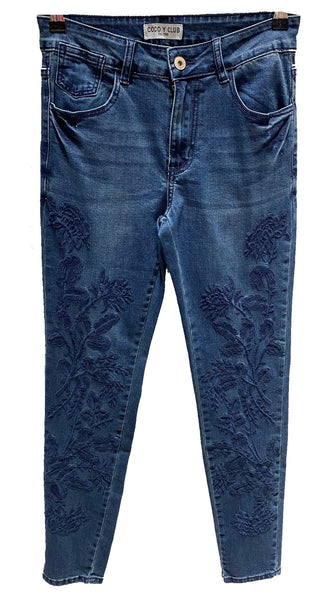 Embroidery Front Denim