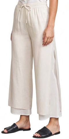 Linen Layered Gaucho Pants
