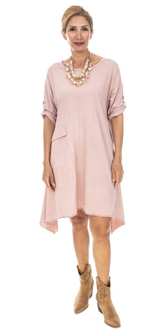 Asymmetrical Cotton Dress - Italian