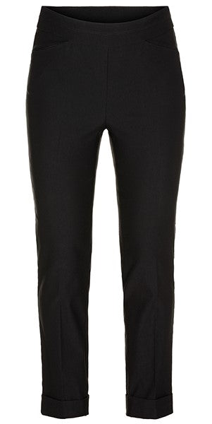 Cuffed Pull-On Ankle Pants