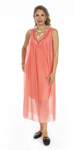 Long Silk Dress - Italian