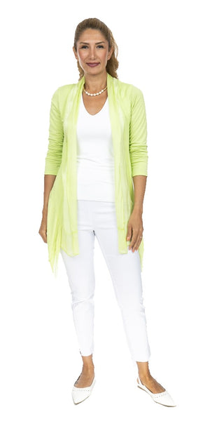 Long Sleeve Layered Silk Cardigan - Italian
