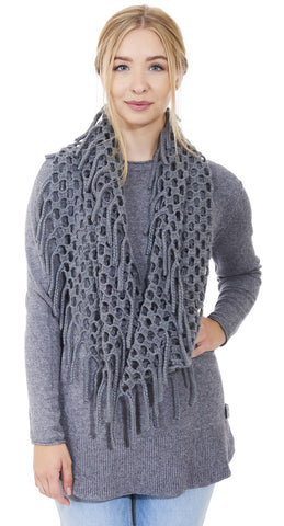 Long Sleeve Sweater with Scarf - Italian