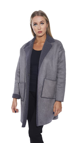 3/4 Shearling Coat- Italian