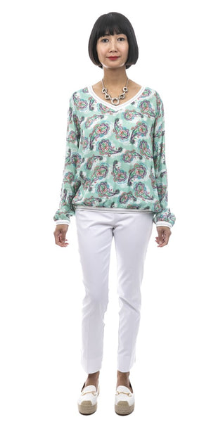 Long Sleeve Print Top - Italian
