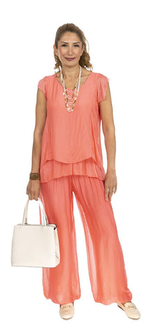 Balloon Hem Silk Pants - Italian