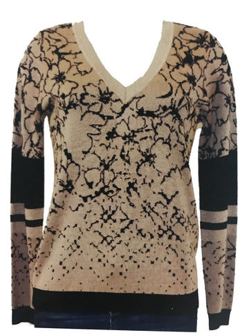 Long Sleeve Print Sweater