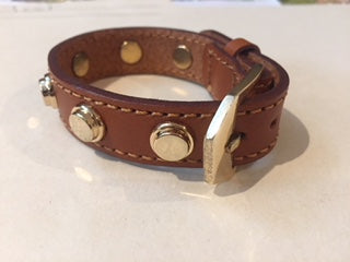 Stud Leather  Bracelet