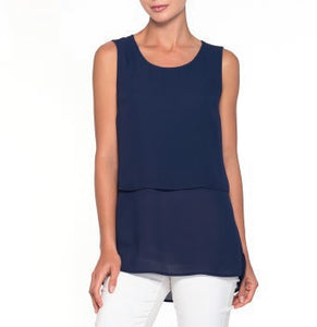 Sleeveless Layered Top