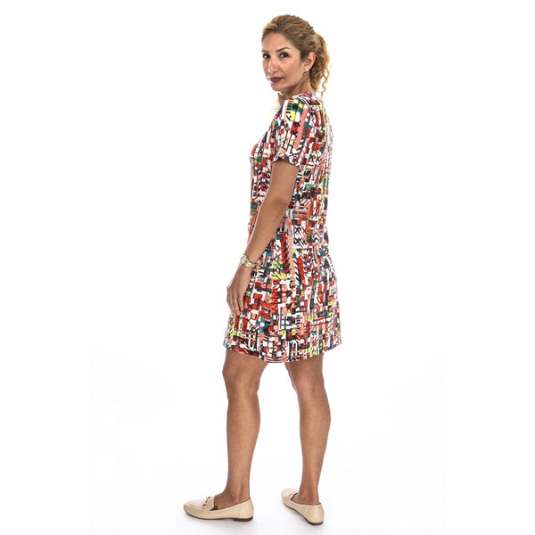 Short Sleeve Print Dress