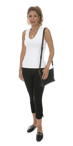Wide Strap V-Neck Tank Top