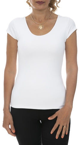Round Neck Slim Fit Top