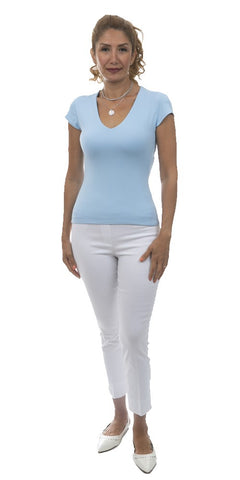 Cap Sleeve Stretchy Top