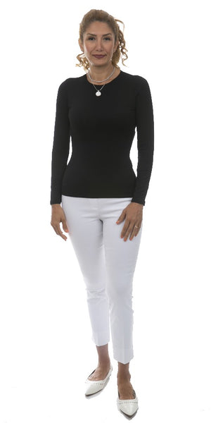 Long Sleeve Round Neck Top