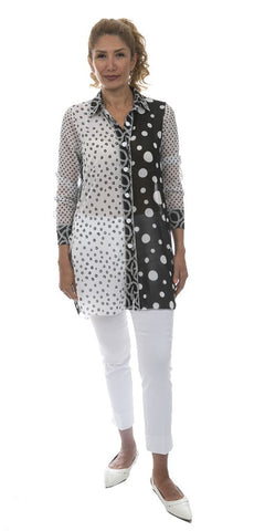 Long Sleeve Polka Dot Tunic