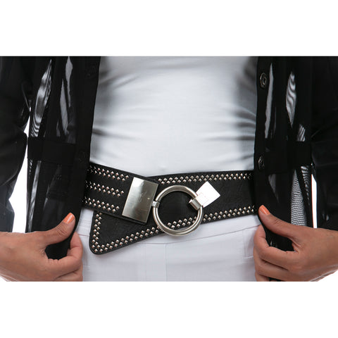 Stud Detail Buckled Belt
