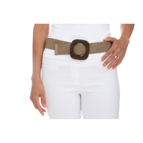 Wooden Buckle Weave Belt