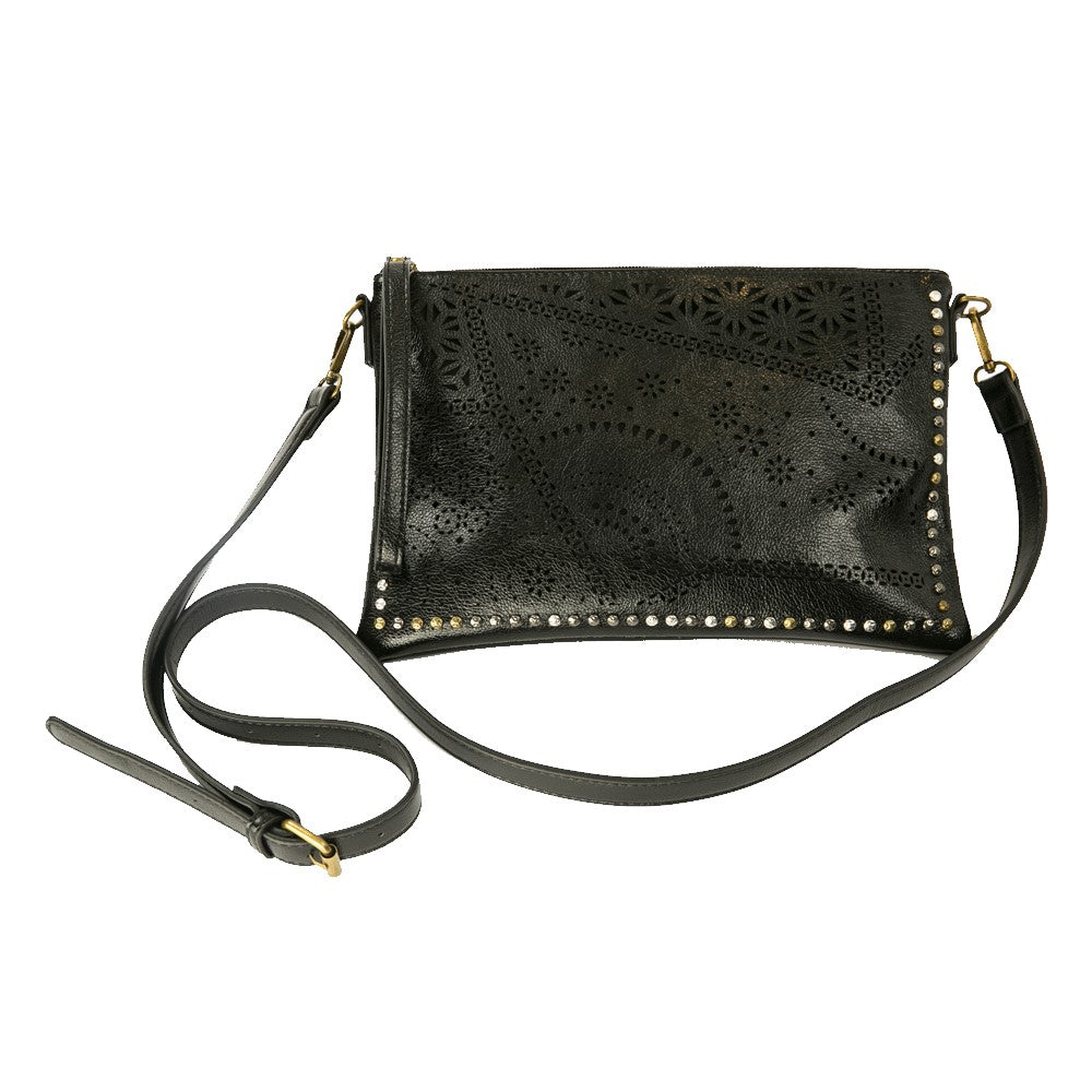 Stud Trim Laser-Cut Cross-Body Bag