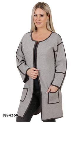 Drop Shoulder Pocket Front Cardigan