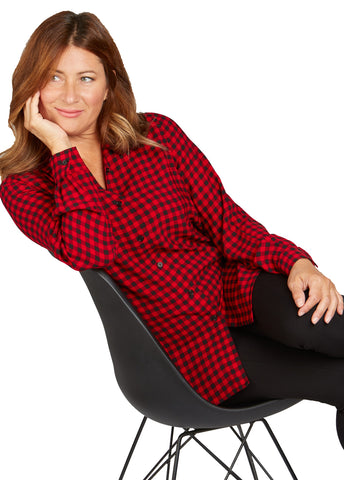 Long Sleeve Check Tunic