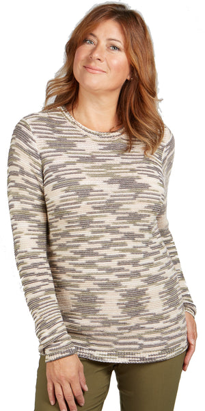 Long Sleeve Cotton Blend Sweater