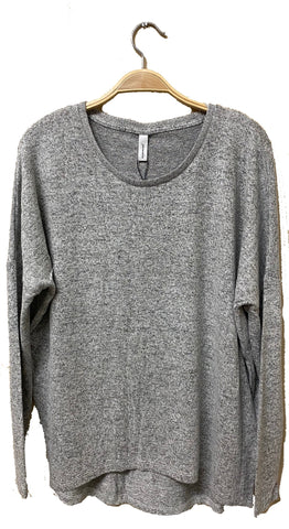 Long Sleeve High-Low Light Sweater