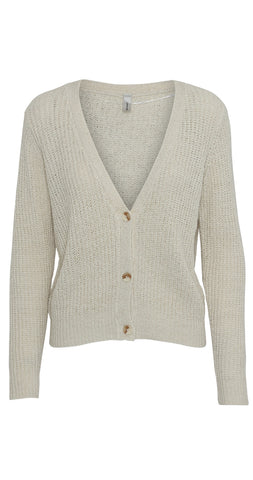 Button Front Short Knitted Cardigan