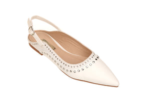 Sling-Back Stud Trim Flat