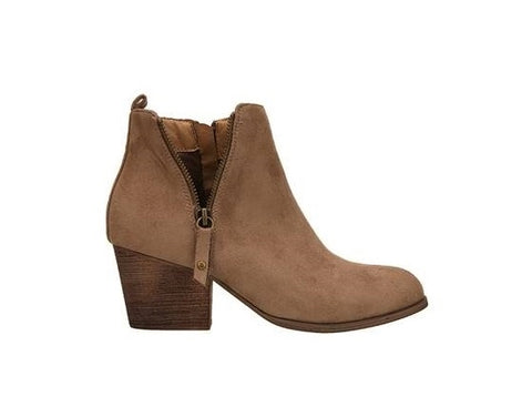 Ultra Suede Ankle Boot