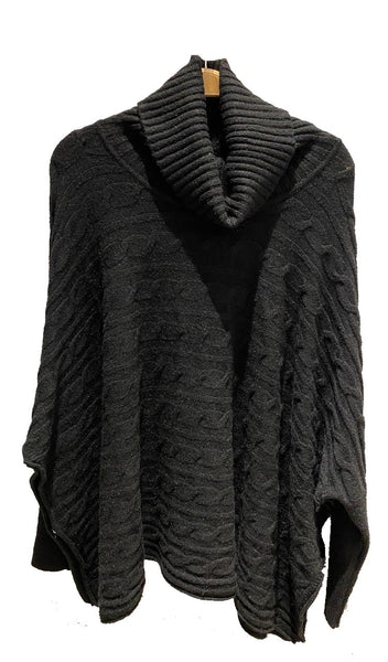 Bat Sleeve Poncho Sweater