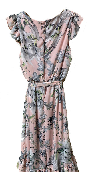 Maxi Floral Belted Dress
