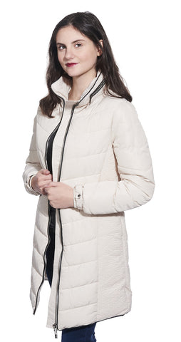 Quilted 3/4 hooded Coat