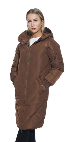Hooded Long  Puffer Winter Jacket